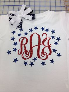 Glitter Vinyl monogram children's Tshirt by heavenscentinc on Etsy, $20.00