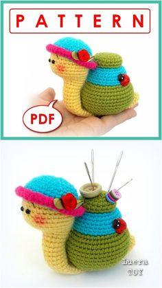 Crochet Snail with Pattern #Crochet #Snail #Pattern