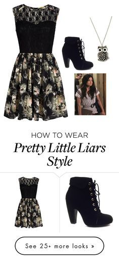 """""""Aria Montgomery (pretty little liars)"""" by taryngallion on Polyvore featuring Mela Loves London and Bamboo"""