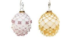 Champagne beaded ornament