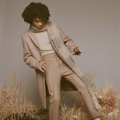 Luka Sabbat Model 2015 SSENSE Photo Shoot 008 Luka Sabbat Rocks Tailored Menswear for SSENSE Editorial