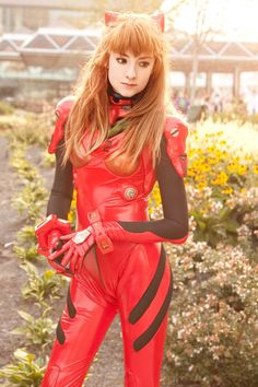 Character: Asuka Langley / From: 'Neon Genesis Evangelion' Anime Series / Cosplayer: Maria Sol (aka LuIubird)  / Photo: Anna Cosplay Photography (Anna Fischer) / Event: Otakon (2010)
