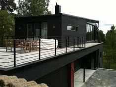 Scandinavian Interior Design, Scandinavian Home, Contemporary Architecture, Architecture Details, Patio Railing, Pergola Decorations, Weekend House, Exterior House Colors, My House