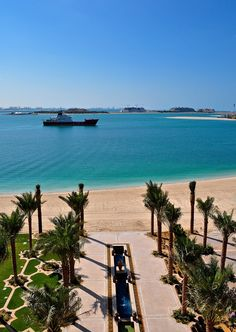 View from the new Fairmont The Palm, Dubai
