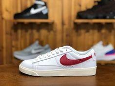 0f2246e26b91d Mens Womens Nike Blazer Low Premium White red hook 454471-105 Skate Shoes  Nike Shoes