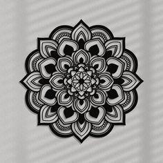 Stylish wall art decor or original gift idea. Choice of 9 colors. Available in: ornamenti. Geometric Mandala Tattoo, Mandala Tattoo Design, Tattoo Designs, Mandala Art Lesson, Mandala Drawing, Tattoo Bein, Flower Ornaments, Flower Of Life, Wood Wall Art