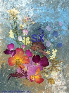 Pond/Shelly Zie  Pressed Flower Art