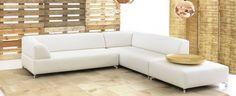 Ruime loungebank in strak design met hoogwaardige chromen plint de chaise longue maakt deze - Grijze lounge taupe ...