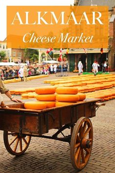 Amazing pictures and practical info for your visit to the world-famous Alkmaar Cheese Market in the Netherlands. I would travel to Holland just to see this!