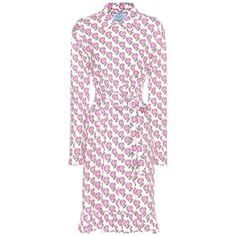 Prada Printed Cotton Dress ($1,160) ❤ liked on Polyvore featuring dresses