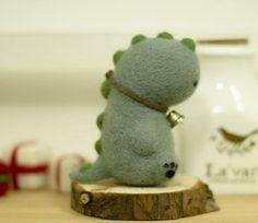 DIY Needle wool felt Super cute Dinosaur by GracefulLifePretty