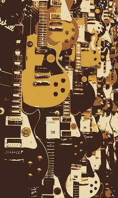 Guitar Center Wall Learn To Play Authentic Guitar For Any Style Of Music… Guitar Art, Music Guitar, Jazz Guitar, Cool Guitar, Acoustic Guitar, Stoner Rock, Gibson Les Paul, Sound Of Music, Music Is Life