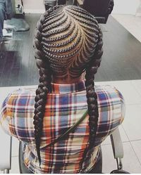 30 Beautiful Fishbone Braid Hairstyles for Black Women Want a protective hairstyle that's full of beautiful cornrows and Ghana braids? Turn one of our favorite fishbone braided hairstyles your latest look. Kids Braided Hairstyles, Box Braids Hairstyles, Little Girl Hairstyles, African Hairstyles, Long Hairstyles, Teenage Hairstyles, Short Haircuts, Natural Hair Care, Natural Hair Styles