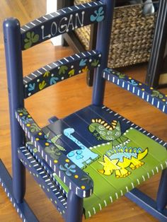 Dinosaur Childrens Rocker. $125.00, via Etsy.