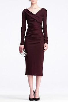 Bentley Dress | Dresses by DVF in obsidian wool jersey