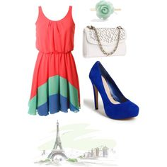 Paris love, created by clareary on Polyvore