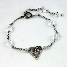 Heart bracelet by wazkastudio on Etsy