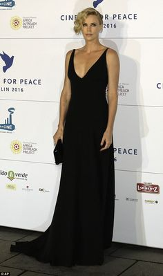 Picture of perfection: Charlize Theronwas guest of honor at Cinema For Peace Berlin 2016 on Monday evening