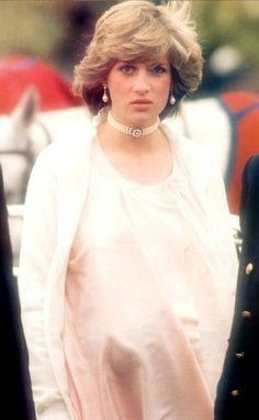 Princess Diana before the birth of Prince William. Poor thing! She looks miserable!