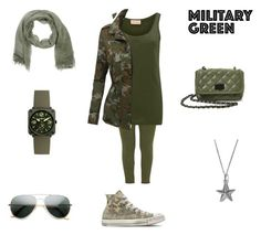 """""""Mititary Boot Camp"""" by flowergirl567 ❤ liked on Polyvore featuring Mother, American Vintage, Converse, LE3NO, Steve Madden, True Rocks, Stefanel, Bell & Ross and ZeroUV"""