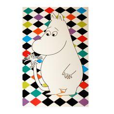 Moomin Flocked Velvet Postcard, Moomintroll | The Moomin Shop