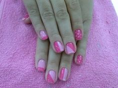 Rosa Convenience Store, Nails, Beauty, Work Nails, Pink, Convinience Store, Finger Nails, Ongles, Beauty Illustration