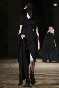 """I hate old Yohji,"" Yohji Yamamoto said, once his show in the gilded grand stateroom of the Paris town hall had finished. There is little point drawing parallels to his previous works wit..."