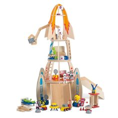With the Plum Super Space Rocket your little astronauts will imagine they are on a special space mission! As they move the aliens and robots up the four stations of the wooden rocket ready to blast off. We love the Plum Super Space Rocket. Wooden Playset, Wooden Toys, Sand Pits For Kids, Swing Sets For Kids, Kids Toy Store, Kids Trampoline, Wooden Play Kitchen, Rockets For Kids, Space Rocket