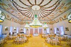 Salle de Bal du Pavillon des Roses - Pavlovsk - Salle de bal décorée par Carlo Rossi en 1814 avec Pietro Gonzage comme Peintre.