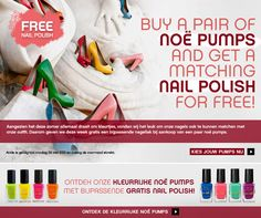 Newsletter 22/05/2013 - Free nail polish when buying a pair of noë pumps