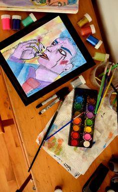 Aquarelle réalisée par l'artiste Claudia Chartier en 2017. Games, Etsy, Watercolor Painting, Water Colors, Figurative, Handmade Gifts, Artist, Drawing Drawing, Gaming