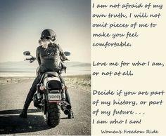 My biker bitch