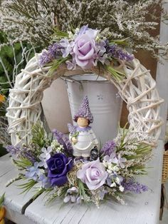 Finished wreath 30cm - LAVENDER, Finished wreath 30cm - LAVENDER...,  #30cm #Couronne #finished Diy Wreath, Door Wreaths, Easter Wreaths, Christmas Wreaths, Willow Wreath, Lavender Wreath, Wedding Wreaths, Wreath Forms, Summer Wreath