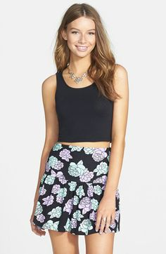 Painted Threads Drop Waist Knit Skirt (Juniors) available at #Nordstrom