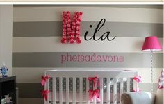 Monogram Letter in a baby's room will add a flare to the room.  #nursery