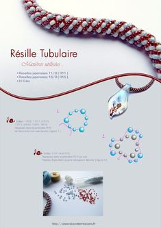 """Tubular Mesh"" (otherwise known as Russian Spiral"". Obvious schema w/o translation. #Seed #Bead #Tutorials"