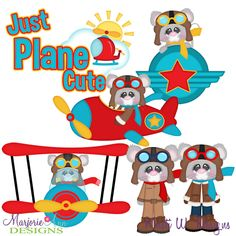Just Plane Cute SVG-MTC-PNG plus JPG Cut Out Sheet(s) Our sets also include clipart in these formats: PNG & JPG