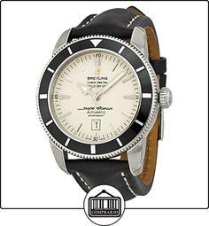 3900486e6 Breitling Superocean Heritage Plata Dial Negro Cuero Mens Reloj  a1732024-g642bklt ✿ Relojes para hombre