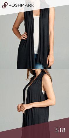 861541d67cf9aa Beautiful Buttery Soft Black Sleeveless Vest Boutique
