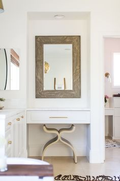 BECKI OWENS--Get the Look: Las Palmas Project Master Bathroom. A fresh white space with Moroccan influences and colorful accents.