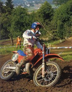 Danny was the epitome of the motocross that I grew up with. Clearly he had crashed, got up and started charging. That's how you wanted to be.