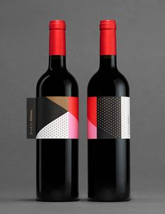 Wine, bottle, midday, abstract, dots, clean in Packaging