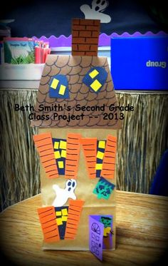 Paper Bag Haunted Houses....by Beth Smith's Second Grade Class 2013