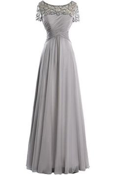 Angel Bride Scoop Neck Long Chiffon Mother of the Bride Dress Formal Dress18WGray *** Check out the image by visiting the link.