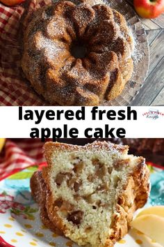 This fresh apple Bundt cake is a must-have for any gathering, but most certainly in the fall. The aroma will make your kitchen smell like it's time for Halloween and bobbing for apples. Fall Dessert Recipes, Fall Desserts, No Bake Desserts, Just Desserts, Fresh Apple Cake, Fresh Apples, Vegetarian Bake, Dragon Cakes, Apple Recipes