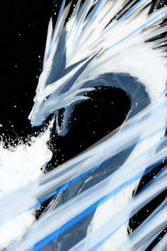 Ice Dragon exhaling a freezing breath | Dragons, Mythical, Fantasy, Art