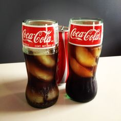 Recycled Coca-Cola Coke Glass Bottle Drinking Glass. $10.00, via Etsy.