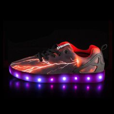 B1058 Shoes With Light For Kids Red - Flashing.Shoes - 1