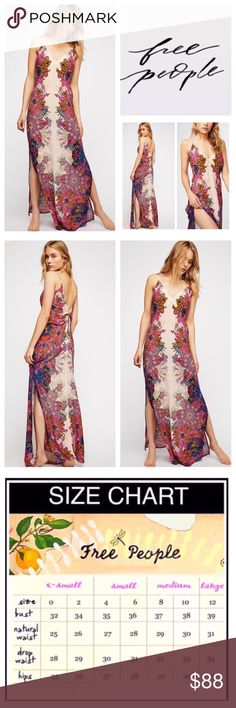3a4d60e272ce Free People Wildflower Printed Slip Maxi. NWT. Free People Wildflower  Printed Maxi Slip Dress