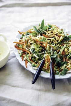 fideos de zuccini padthai